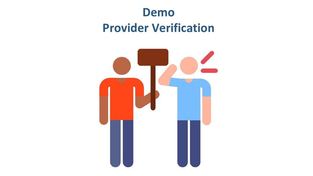 Demo Provider Verification