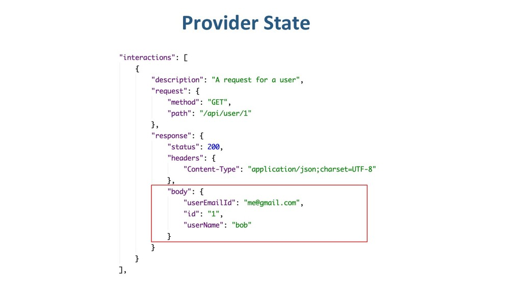 Provider State