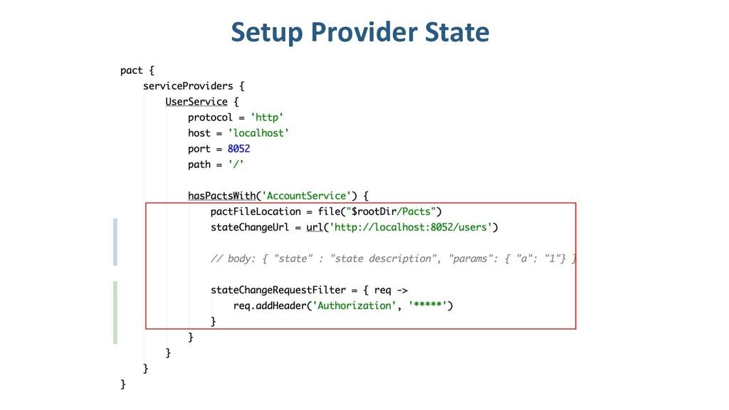 Setup Provider State