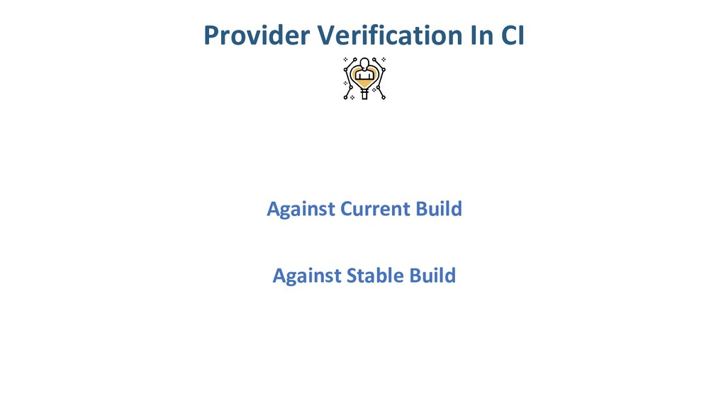 Against Current Build Provider Verification In ...
