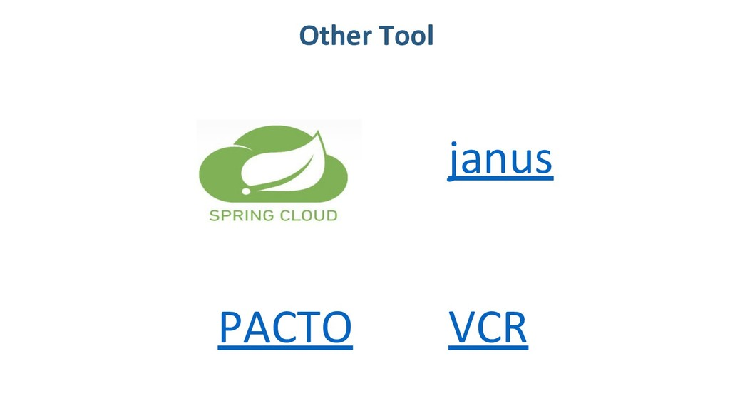 Other Tool janus VCR PACTO