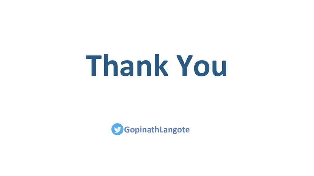 Thank You GopinathLangote