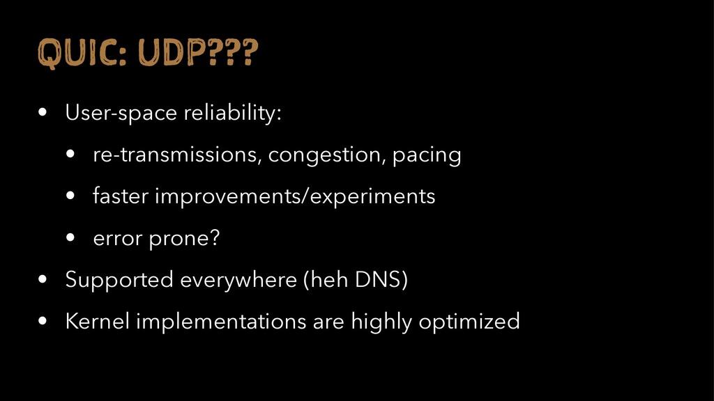 Q IC: U P??? • User-space reliability: • re-tra...