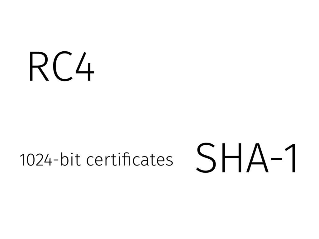 SHA-1 1024-bit certificates RC4