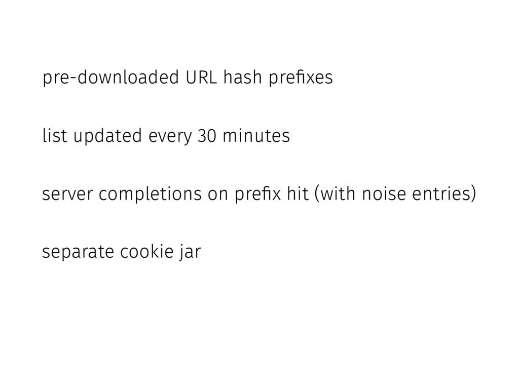 pre-downloaded URL hash prefixes list updated e...