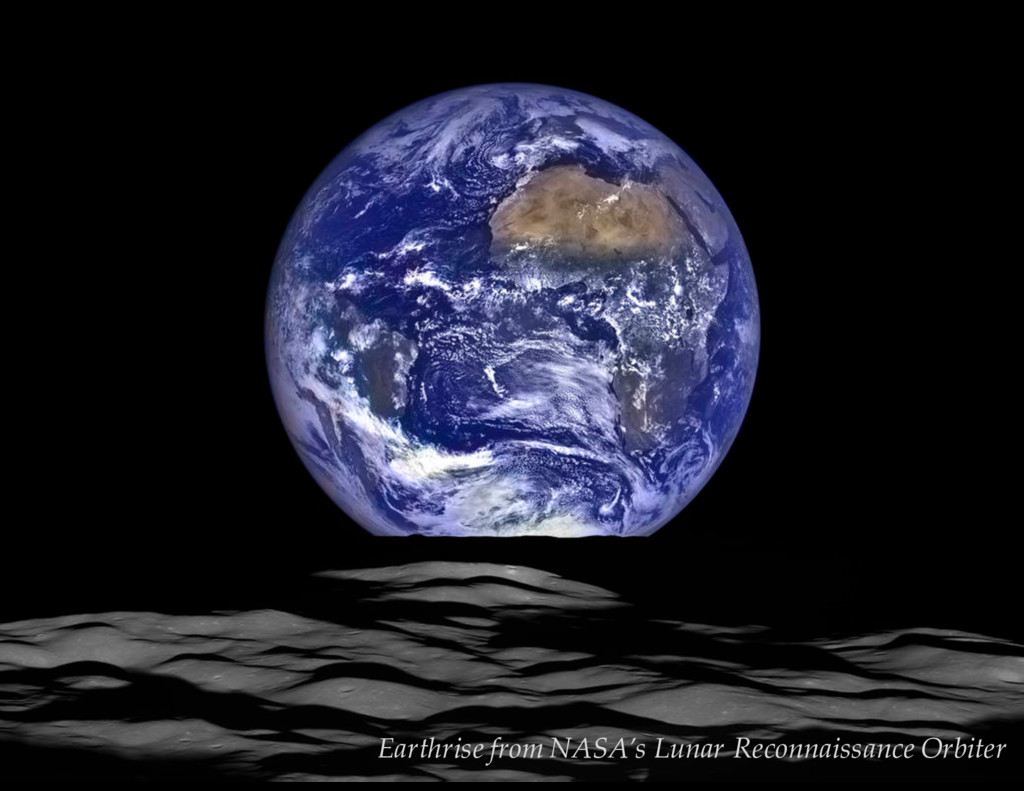 V = 13.3 mag Earthrise from NASA's Lunar Reconn...