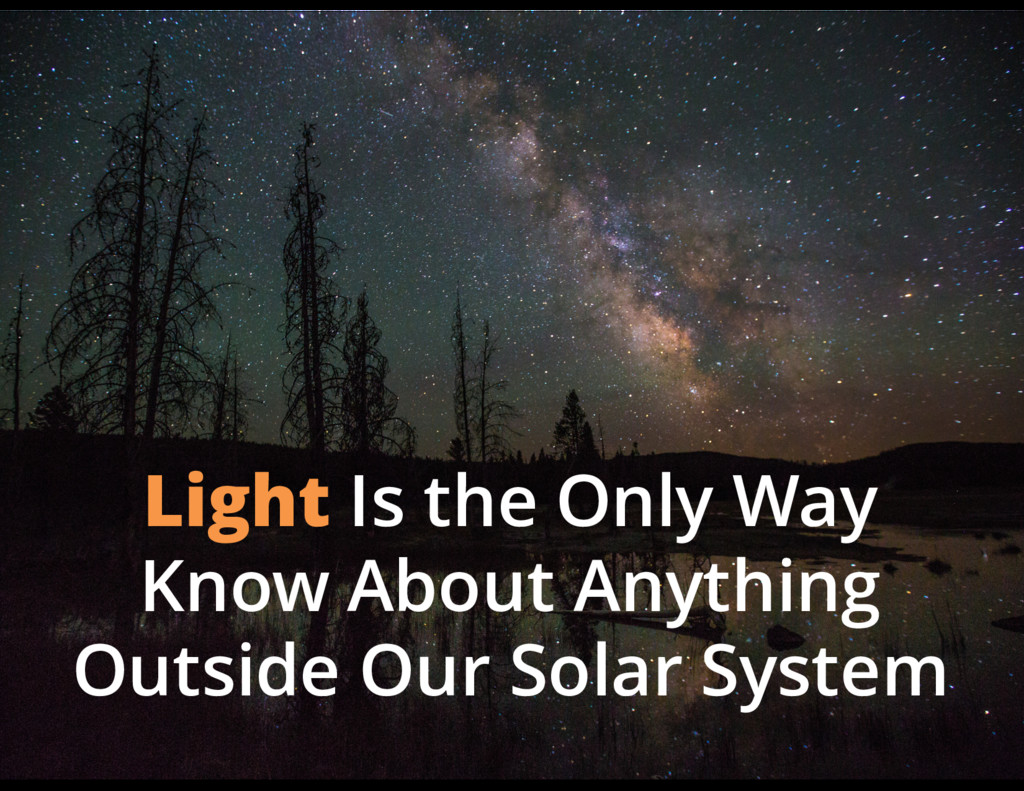 Light Is the Only Way Know About Anything Outsi...