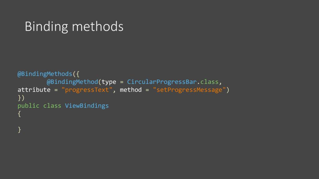 Binding methods @BindingMethods({ @BindingMetho...