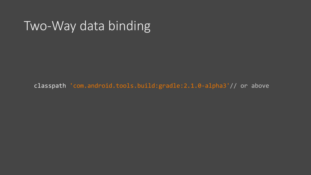 Two-Way data binding classpath 'com.android.too...