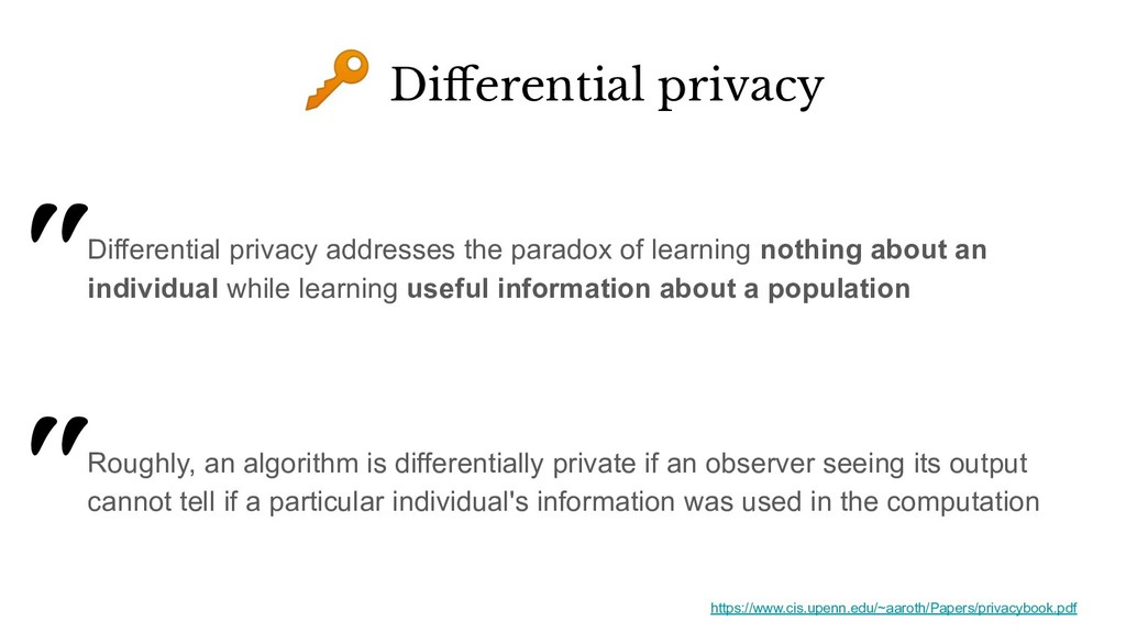 Differential privacy addresses the paradox of l...