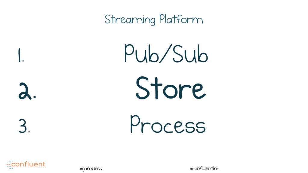 @ @gamussa @confluentinc Streaming Platform 1. ...