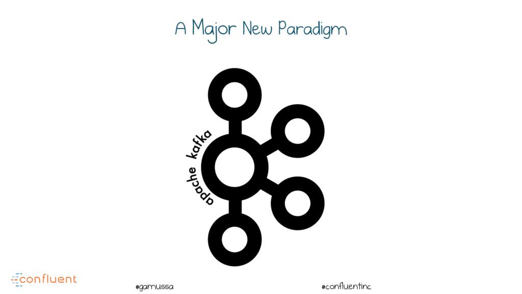 @ @gamussa @confluentinc A Major New Paradigm