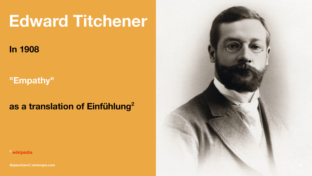 """Edward Titchener In 1908 """"Empathy"""" as a transla..."""