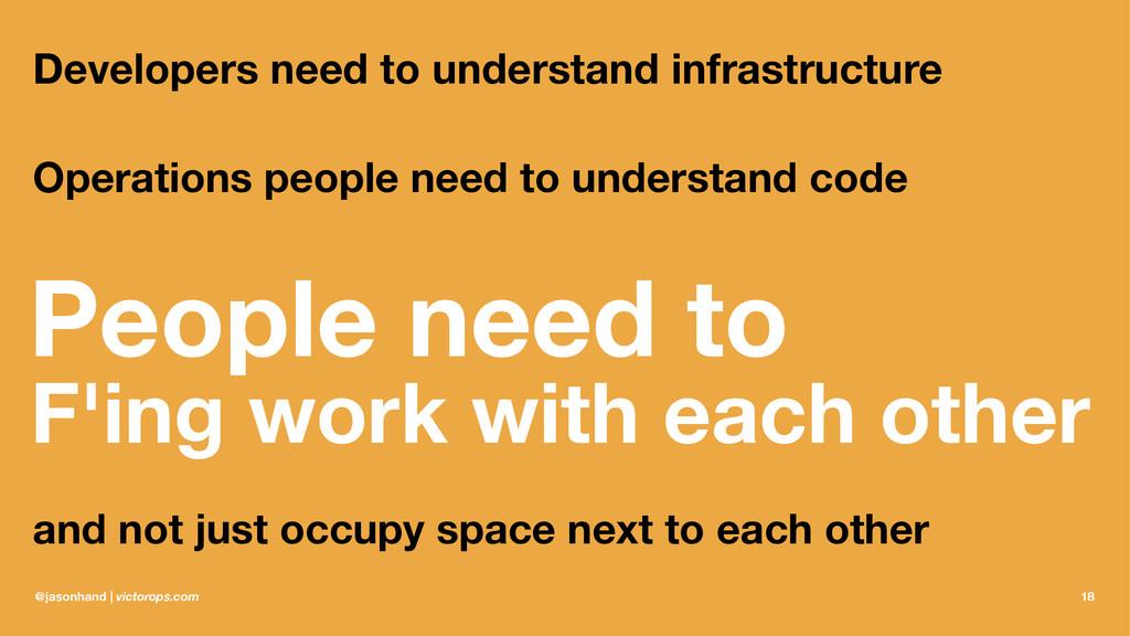 Developers need to understand infrastructure Op...