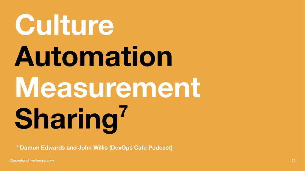 Culture Automation Measurement Sharing7 7 Damon...