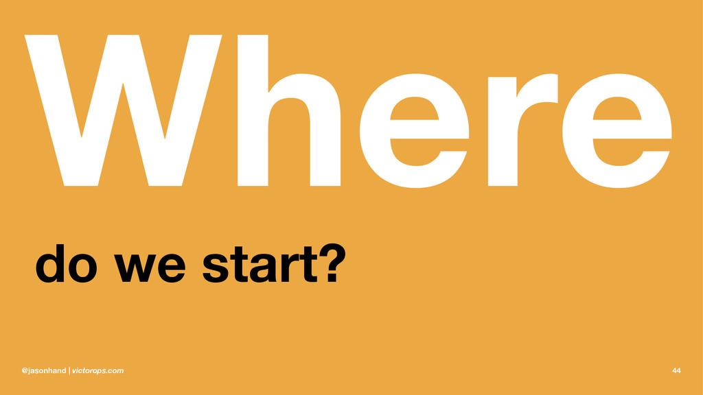 Where do we start? @jasonhand | victorops.com 44