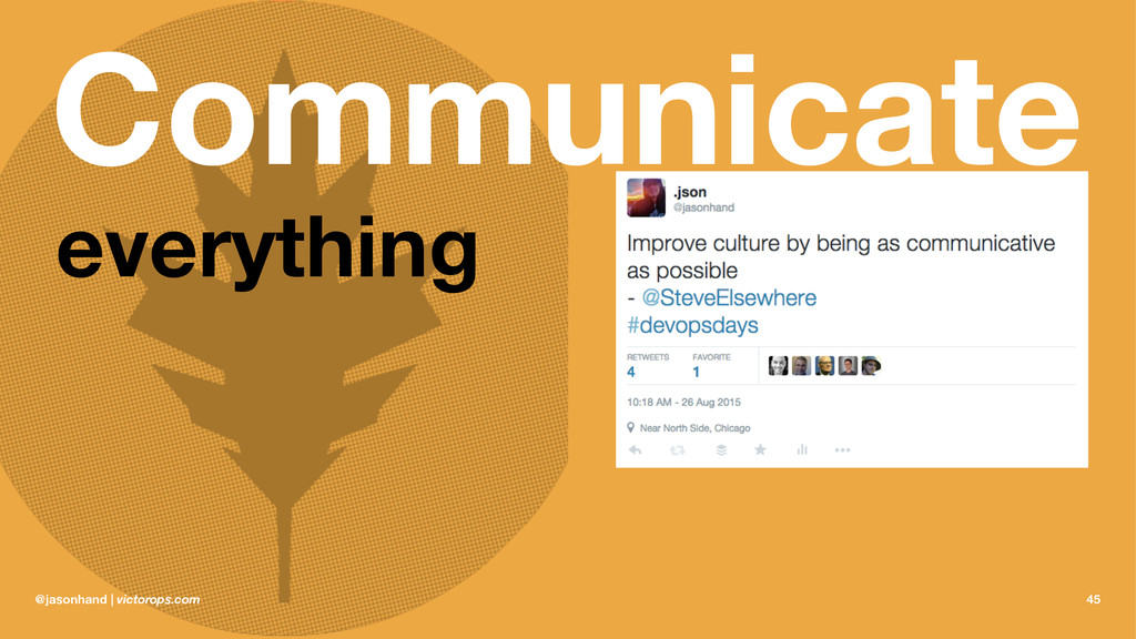 Communicate everything @jasonhand | victorops.c...
