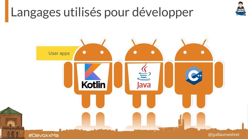 User apps Langages utilisés pour développer
