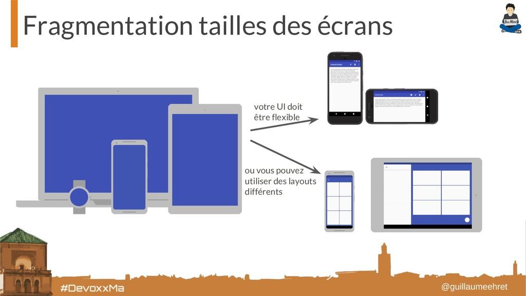 Fragmentation tailles des écrans votre UI doit ...
