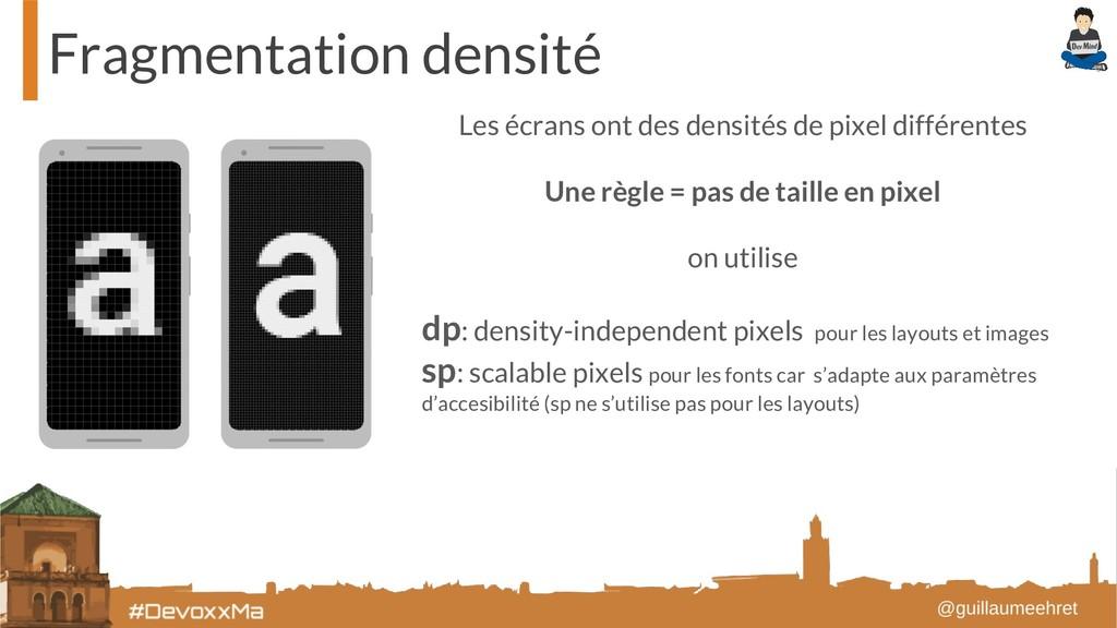 Fragmentation densité Les écrans ont des densit...