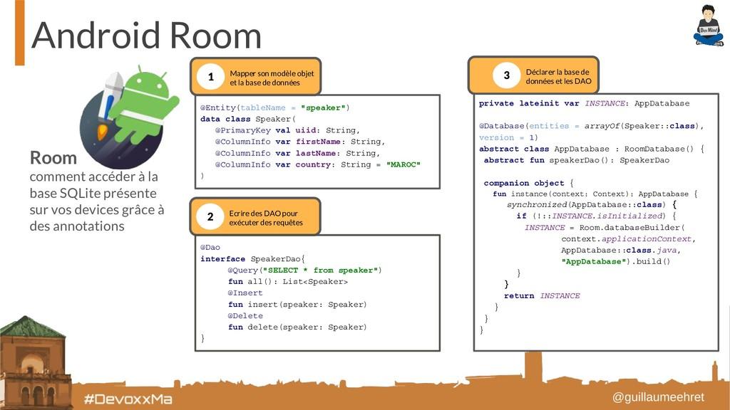 Android Room Room comment accéder à la base SQL...