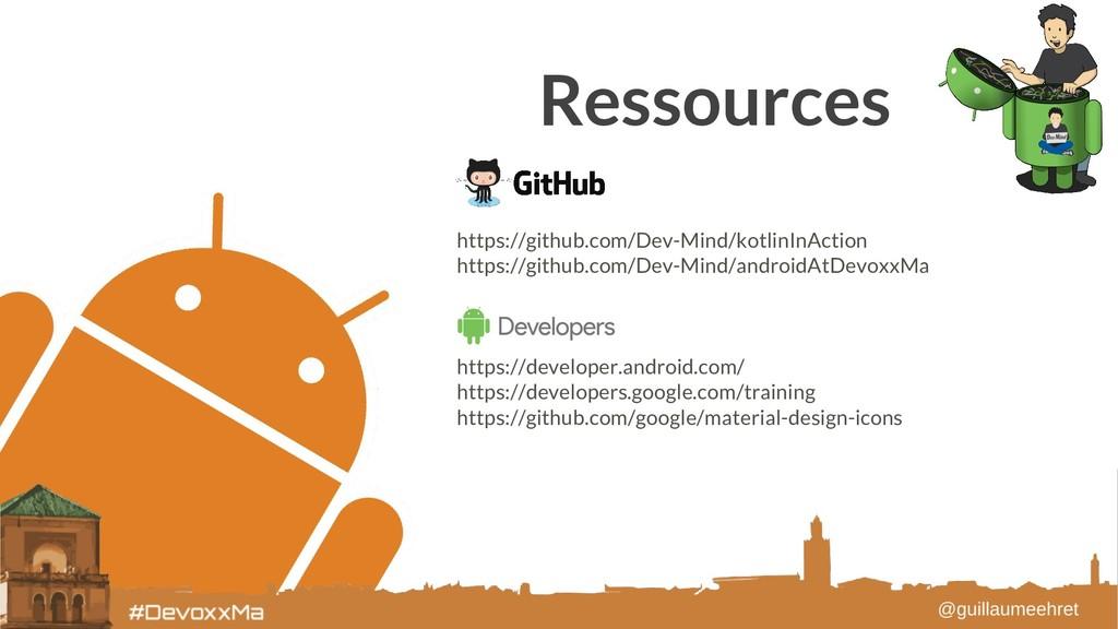 Ressources https://github.com/Dev-Mind/kotlinIn...