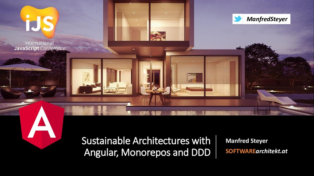 @ManfredSteyer Sustainable Architectures with A...