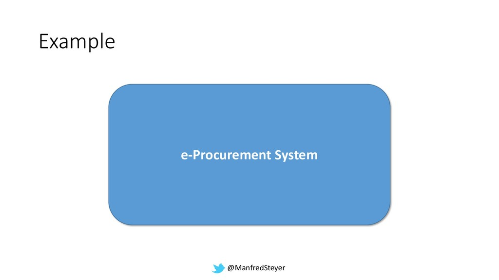 @ManfredSteyer Example e-Procurement System