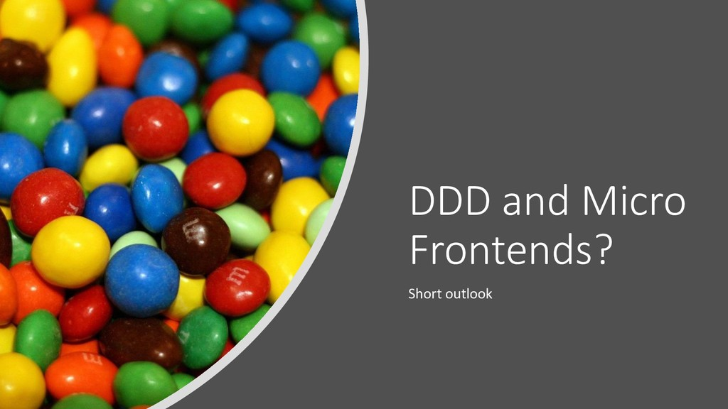 @ManfredSteyer DDD and Micro Frontends? Short o...
