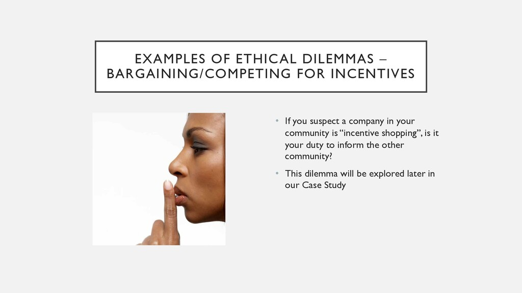 EXAMPLES OF ETHICAL DILEMMAS – BARGAINING/COMPE...