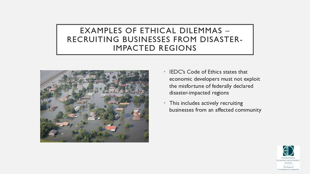 EXAMPLES OF ETHICAL DILEMMAS – RECRUITING BUSIN...