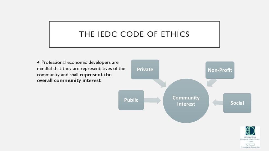 THE IEDC CODE OF ETHICS 4. Professional economi...