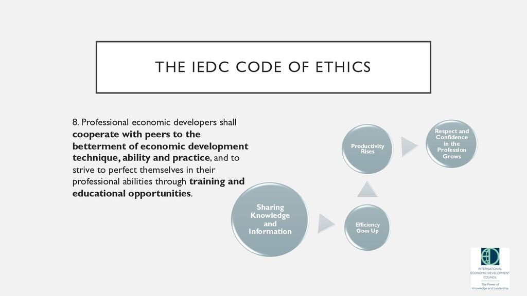 THE IEDC CODE OF ETHICS 8. Professional economi...