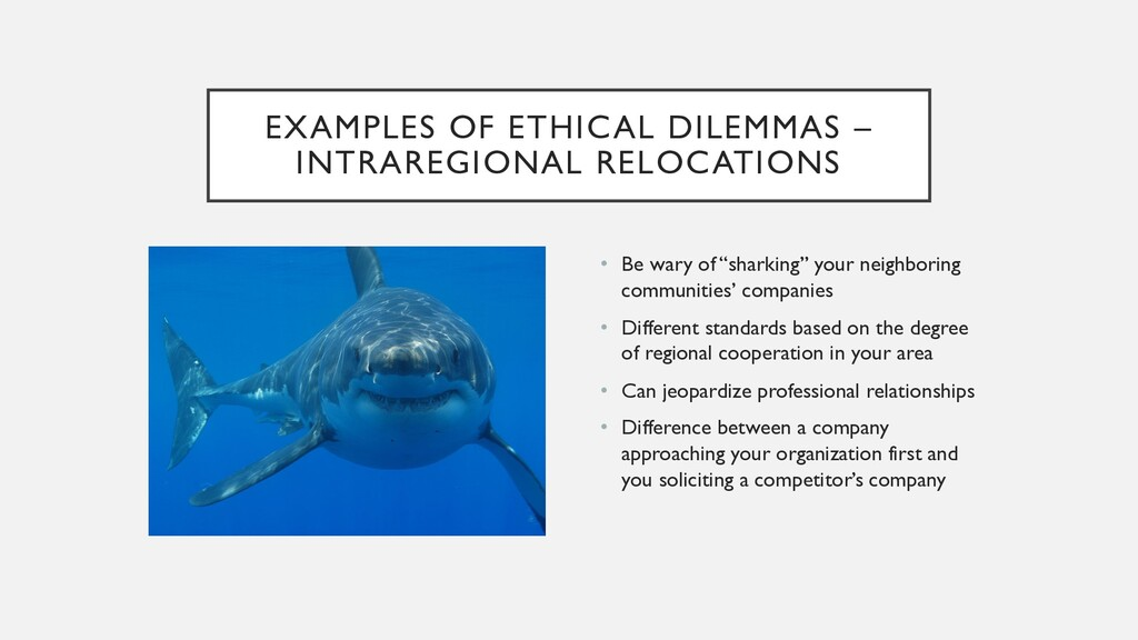 EXAMPLES OF ETHICAL DILEMMAS – INTRAREGIONAL RE...