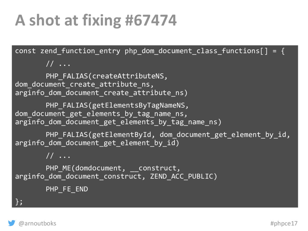 @arnoutboks #phpce17 A shot at fixing #67474 co...