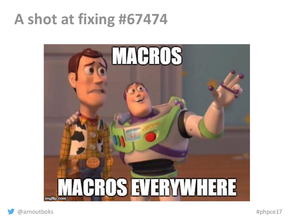 @arnoutboks #phpce17 A shot at fixing #67474