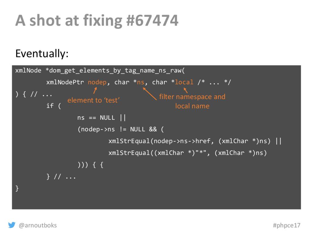 @arnoutboks #phpce17 A shot at fixing #67474 xm...