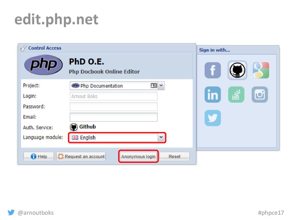 @arnoutboks #phpce17 edit.php.net