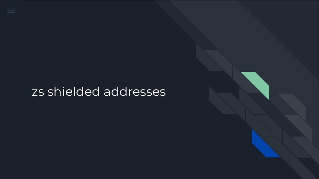 zs shielded addresses
