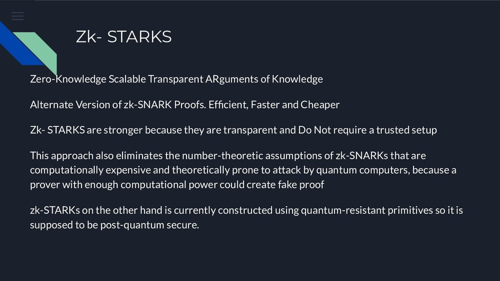 Zk- STARKS Zero-Knowledge Scalable Transparent ...