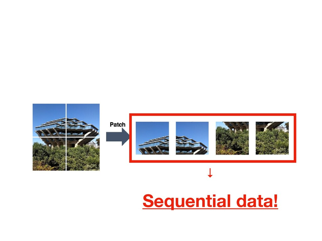 Sequential data! ↓