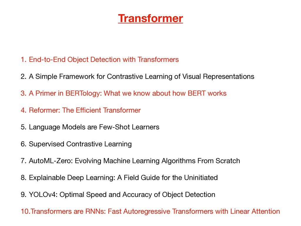 Transformer 1. End-to-End Object Detection with...