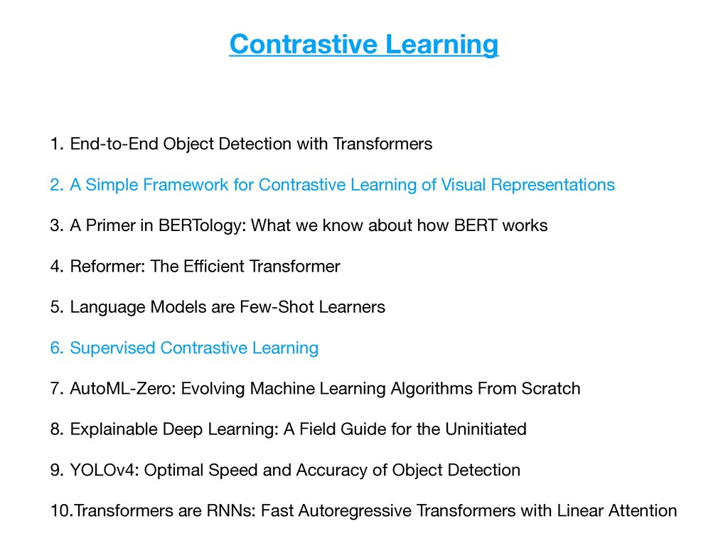 Contrastive Learning 1. End-to-End Object Detec...