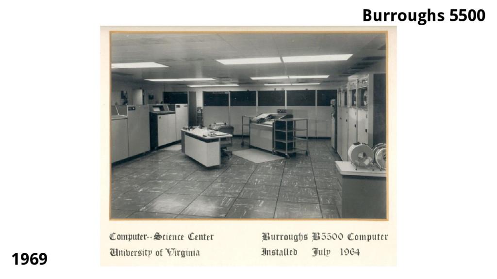 Burroughs 5500 1969