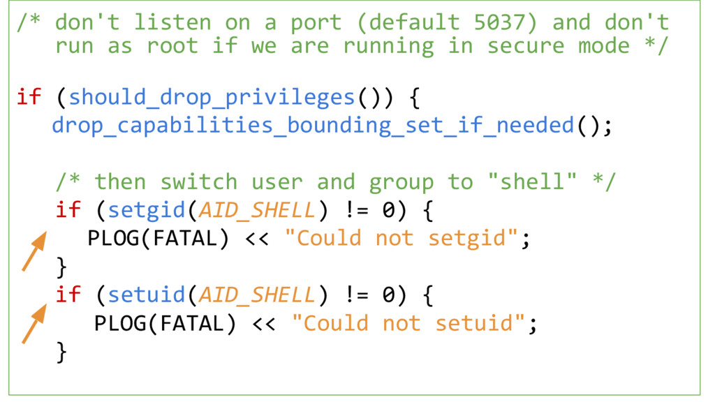 /* don't listen on a port (default 5037) and do...