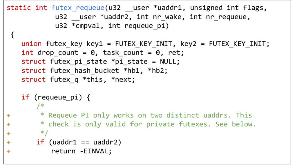 static int futex_requeue(u32 __user *uaddr1, un...