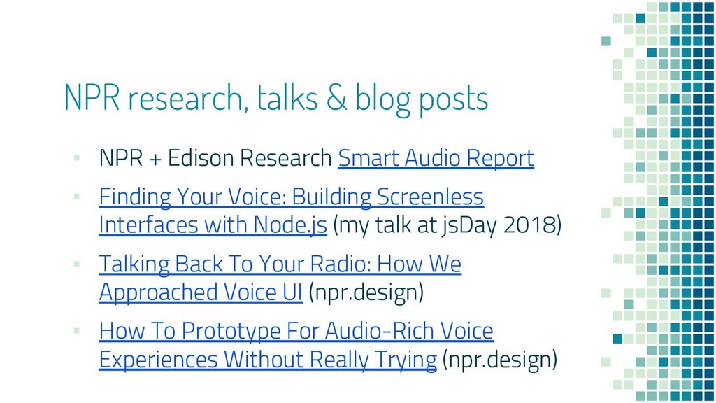 NPR research, talks & blog posts ▪ NPR + Edison...
