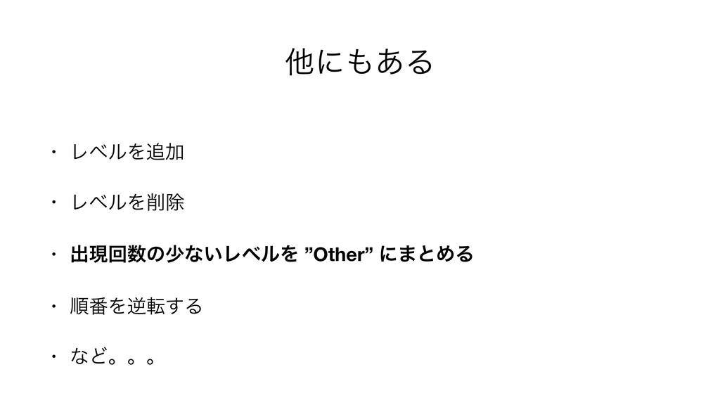 "ଞʹ͋Δ • ϨϕϧΛՃ  • ϨϕϧΛআ  • ग़ݱճͷগͳ͍ϨϕϧΛ ""Other..."