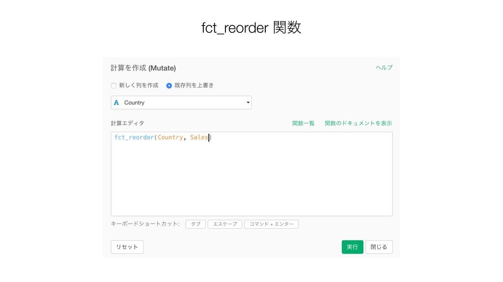 fct_reorder ؔ