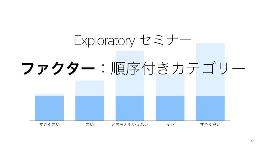 9 Exploratory ηϛφʔ ϑΝΫλʔɿॱং͖ΧςΰϦʔ